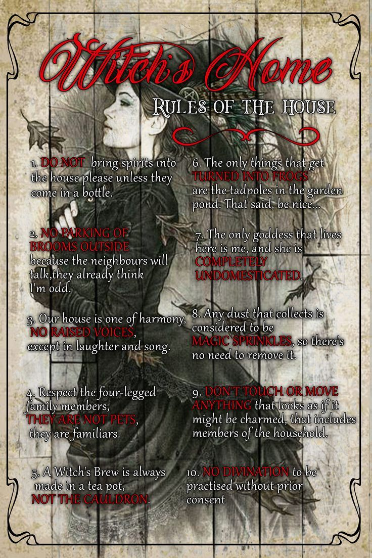 Witchcraft 101: Witch's home, Rule of the house - Witch craft, wicca, spell magic #wicca #witch #Witch'shome #wizard #witchcraft #magic #spell #mysterious #magick #witch'shouse