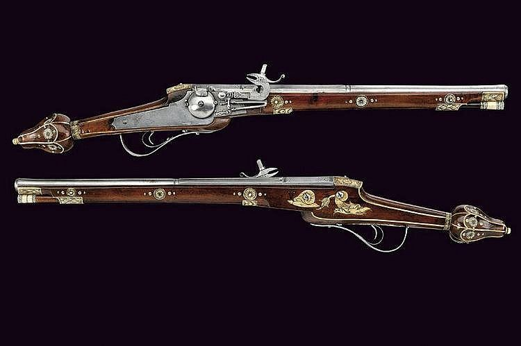 Lock, Stock, and History, An ornate set of wheellock pistols belonging to an...