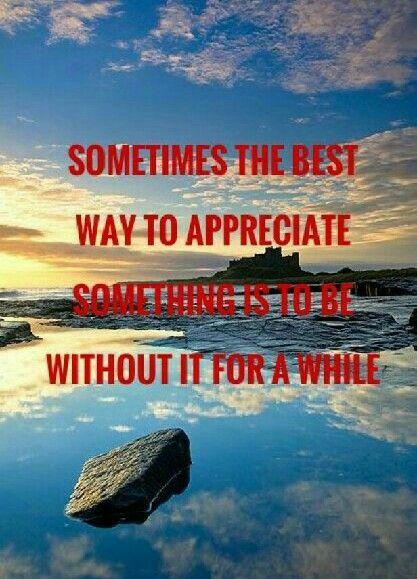 The ability to appreciate.
