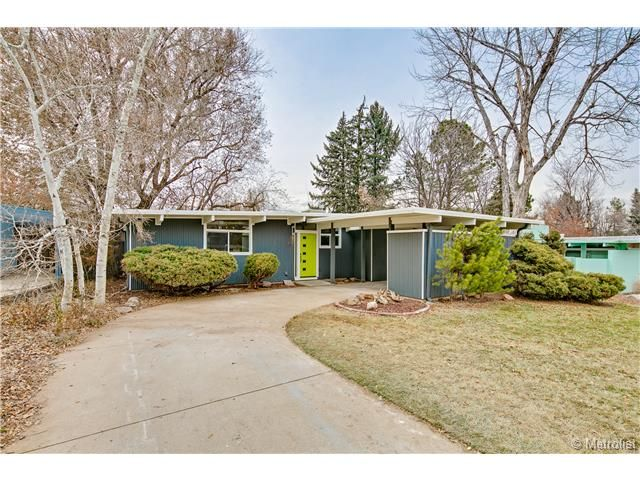 Denver homes for sale upper 400 39 s funky mid century for Mid century modern homes denver