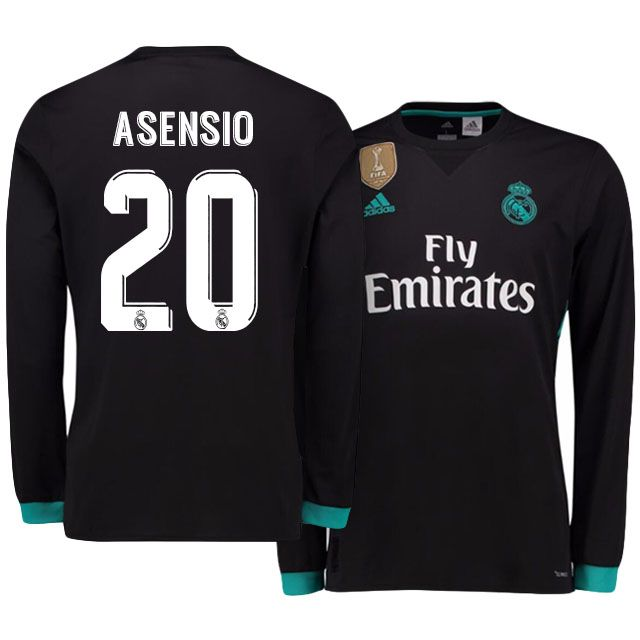 best website fe5c7 511b2 Real Madrid Jersey 17-18 marco asensio LS Away Shirt ...