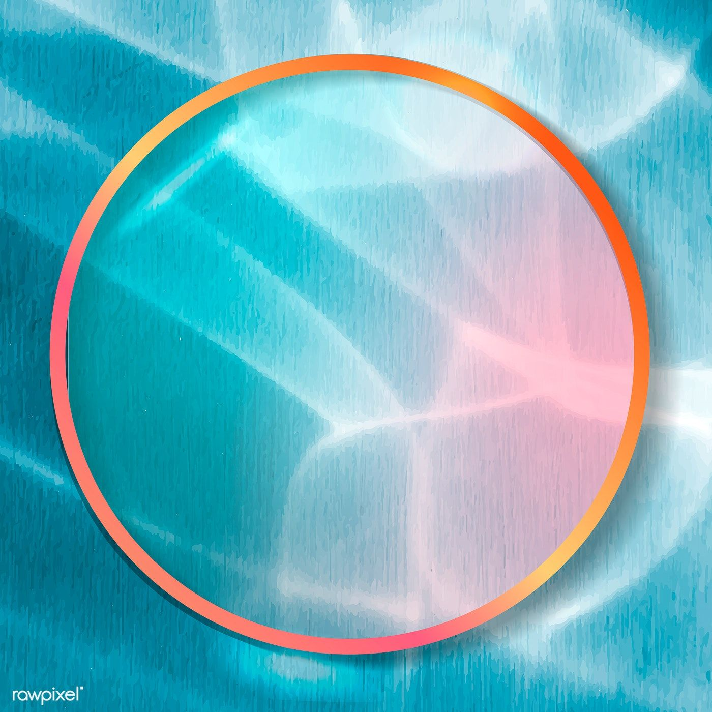 Download Premium Vector Of Round Frame On Abstract Background