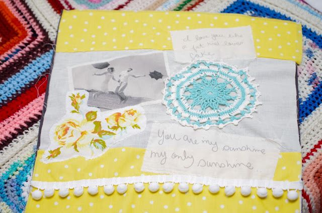 Pocket Full of Whimsy: DIY | Love Notes Photo Pillow