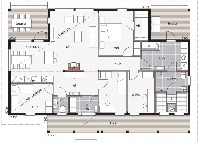 Modèle de rêve, plan maison bois Kontio Laajasalo http://www.kontio.fr/modeles/tous_les_modeles
