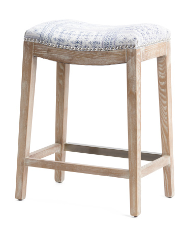 Hayden Patterned Counter Stool Accent Furniture T J Maxx Counter Stools Stool Accent Furniture