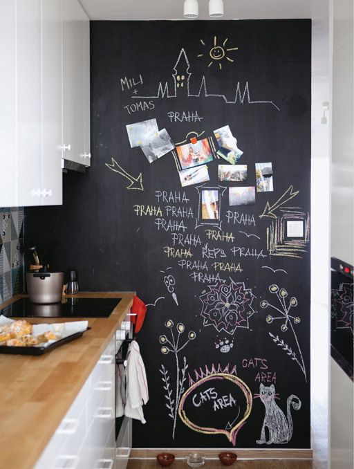 A Chalkboard Wall Is Great For Message Reminders And Adding