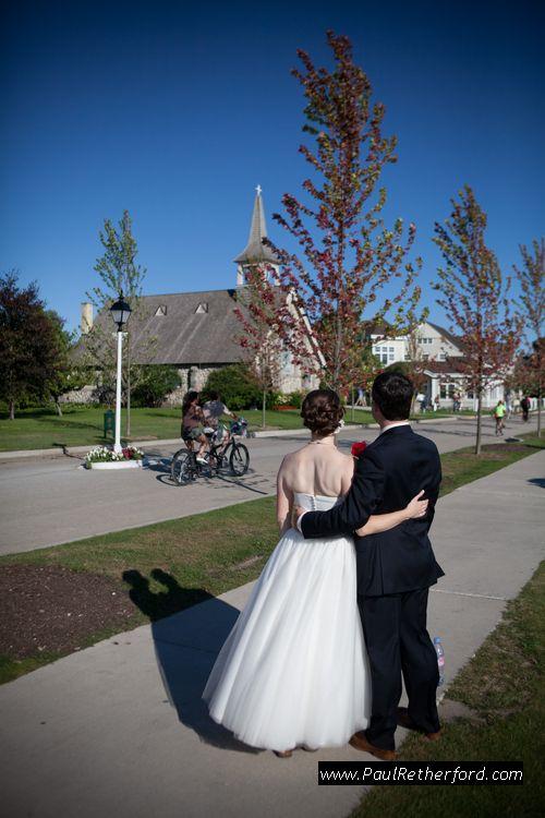 little stone church wedding mackinac photo northern michigan destination weddings by http://www.paulretherford.com #puremichigan #northernmichigan