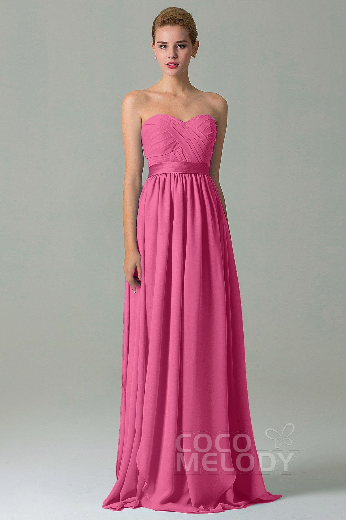 Charming Sheath-Column Natural Floor Length Chiffon Sleeveless ...