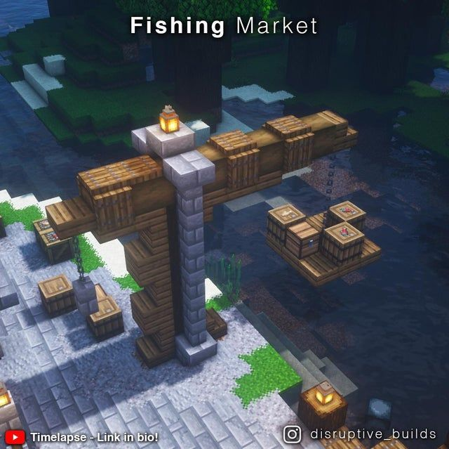 I made a little Fishing Market with a timelapse!