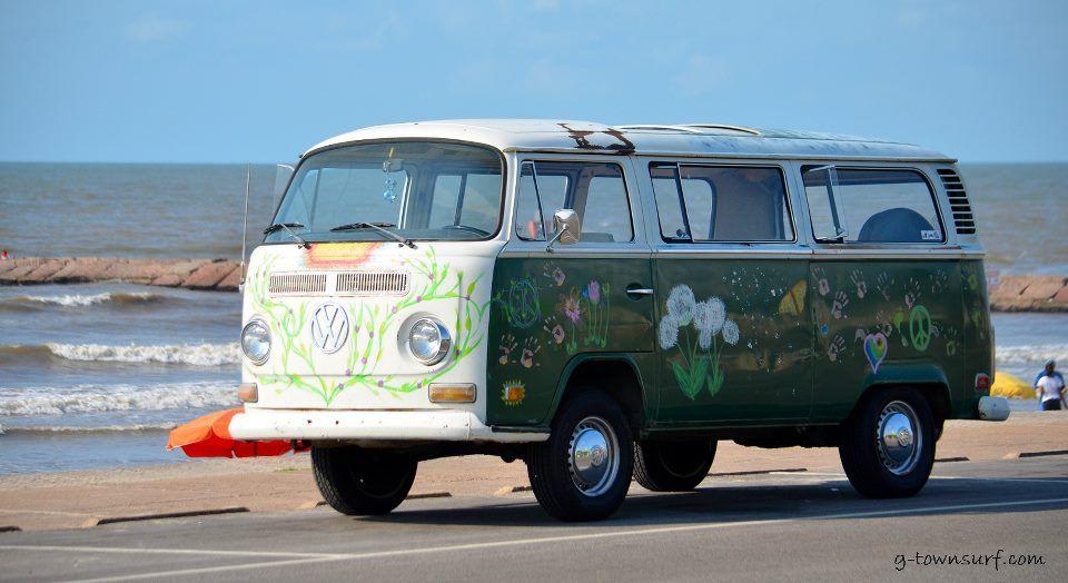 Old Volkswagen Van in Galveston
