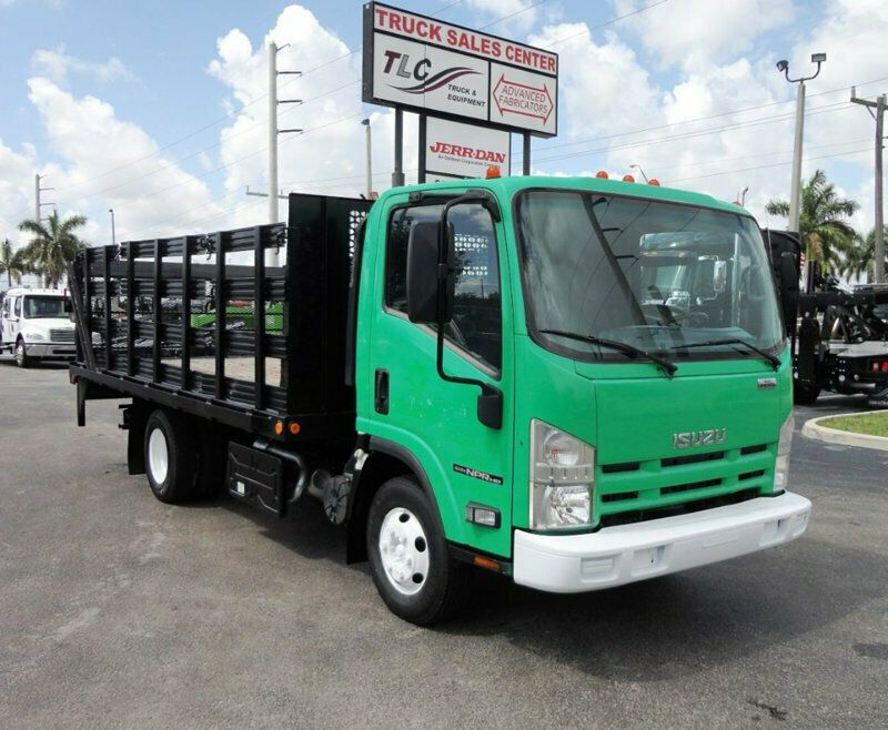2011 Isuzu Npr Hd 16ft Flatbed Stake Bed With Liftgate Stake Truck Trucks Trucks For Sale Vehicle Shipping