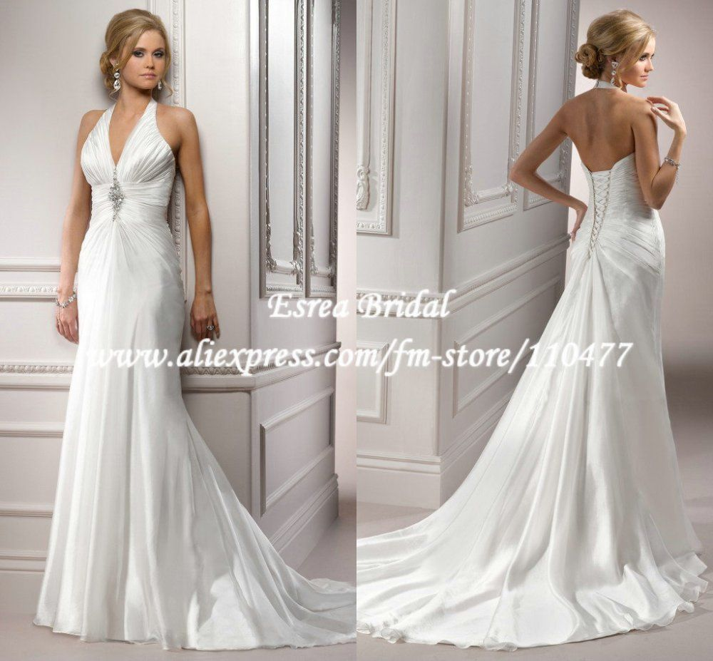Fw new arrival ruched a line elegant long formal bridal wedding