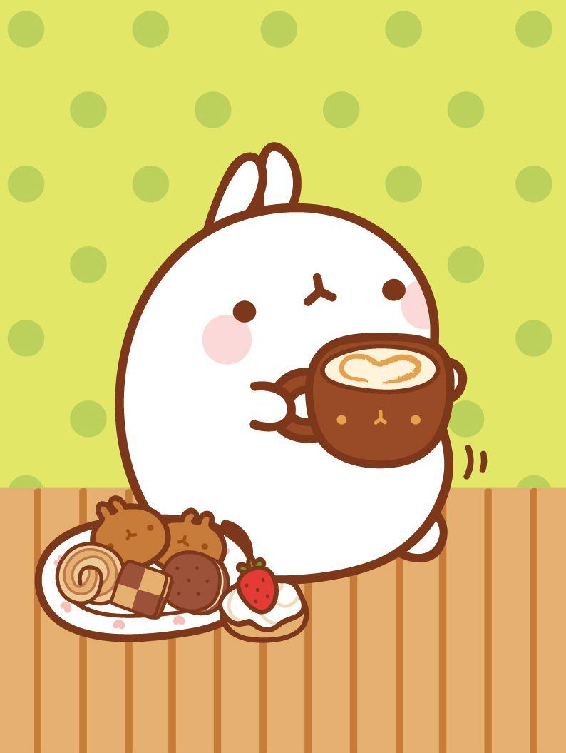 Good morning! I love having breakfast, do you?   ♡ molang ...