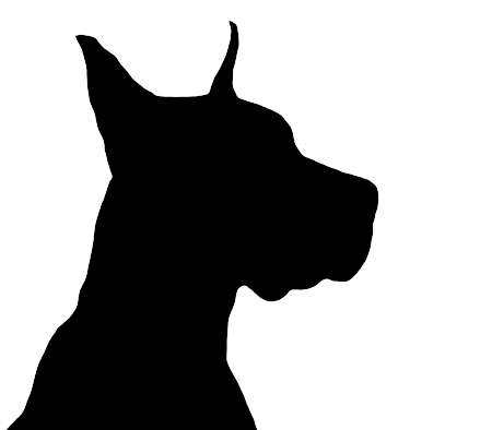 silhouette dog - google zoeken | flock en andere applicaties