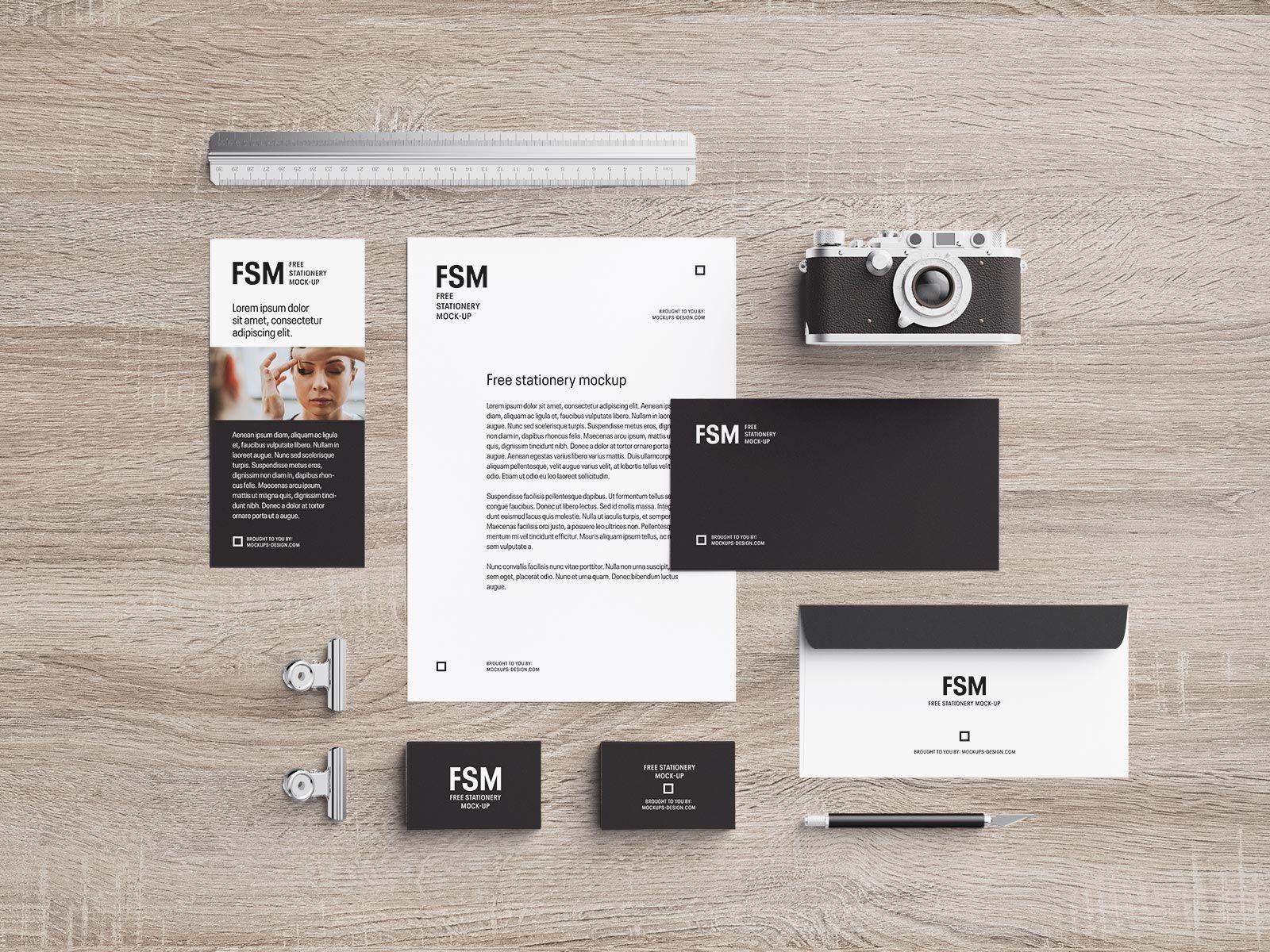 Free Stationery Mockup PSD Set For Photographers