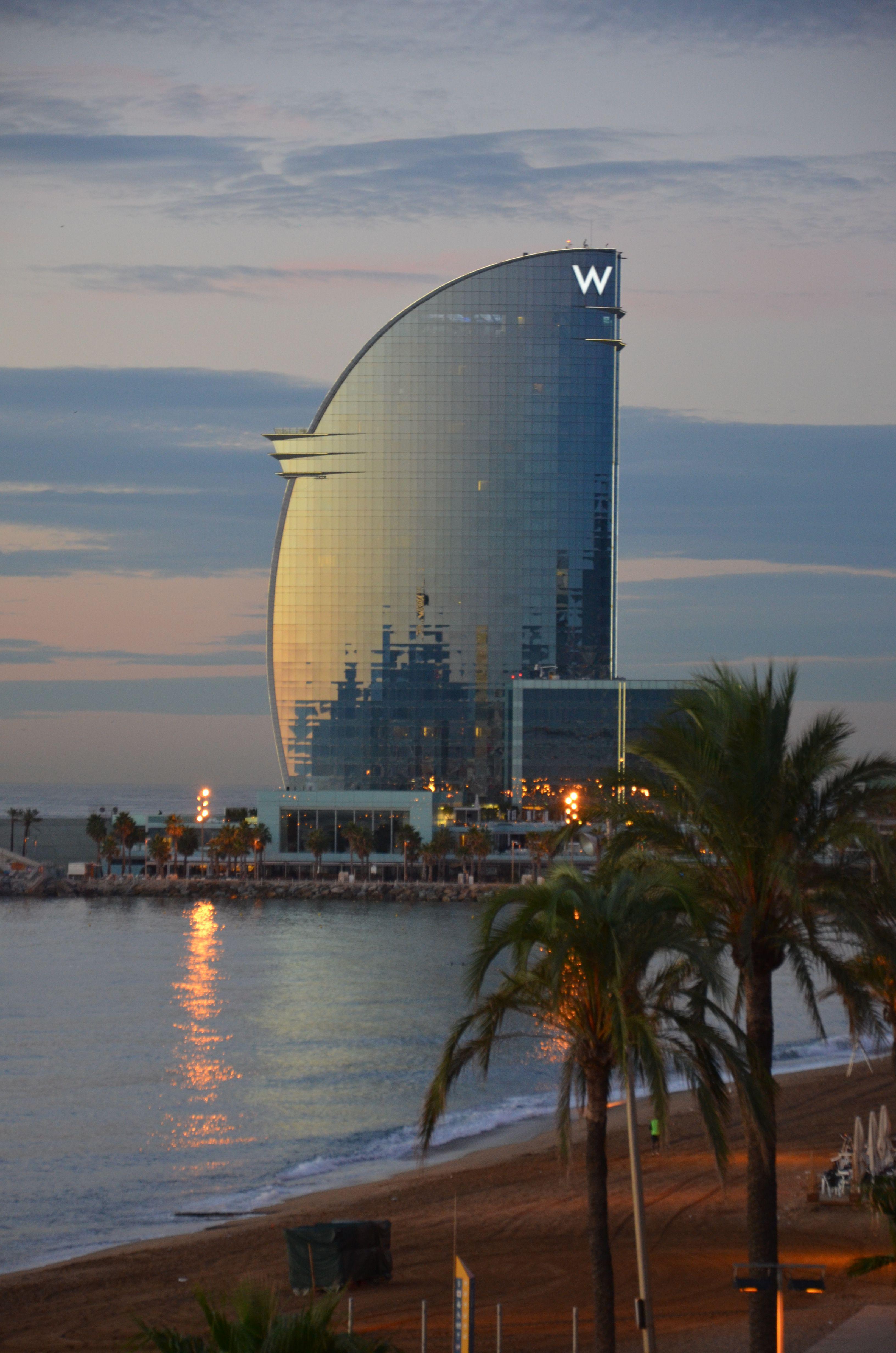 The W hotel in the morning light.  Barceloneta, Barcelona