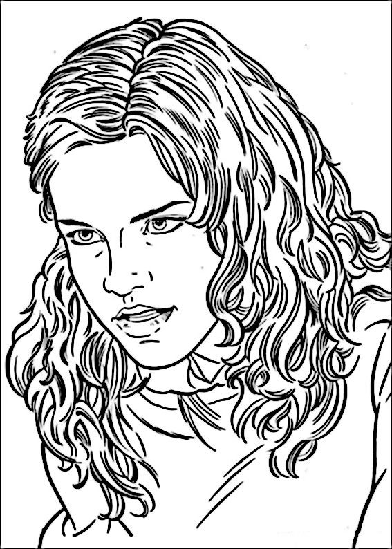 Coloring hermione granger who is angry on free hermione granger coloring pages hermione granger who is angry coloring picture for kids
