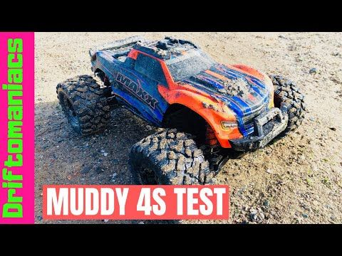 Traxxas Maxx Zop Power 4s Battery Test Muddy In 2020 Traxxas Battery Testing Radio Controlled Cars
