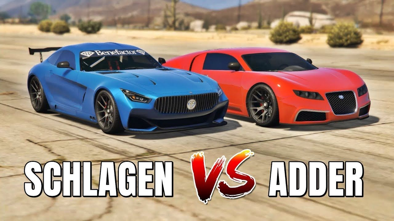 GTA 5 ONLINE SCHLAGEN GT VS ADDER (WHICH IS FASTEST