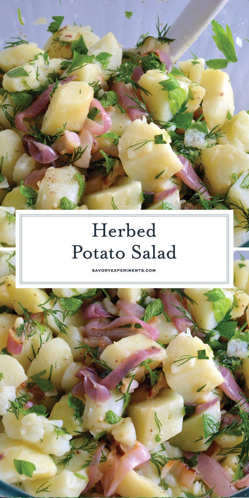 Herbed Potato Salad Is Mayo Free Potato Salad Recipe That Uses Fresh Herbs And Mild White Wine Vinegar To Potatoe Salad Recipe Herbed Potato Salad Potato Salad [ 1600 x 800 Pixel ]