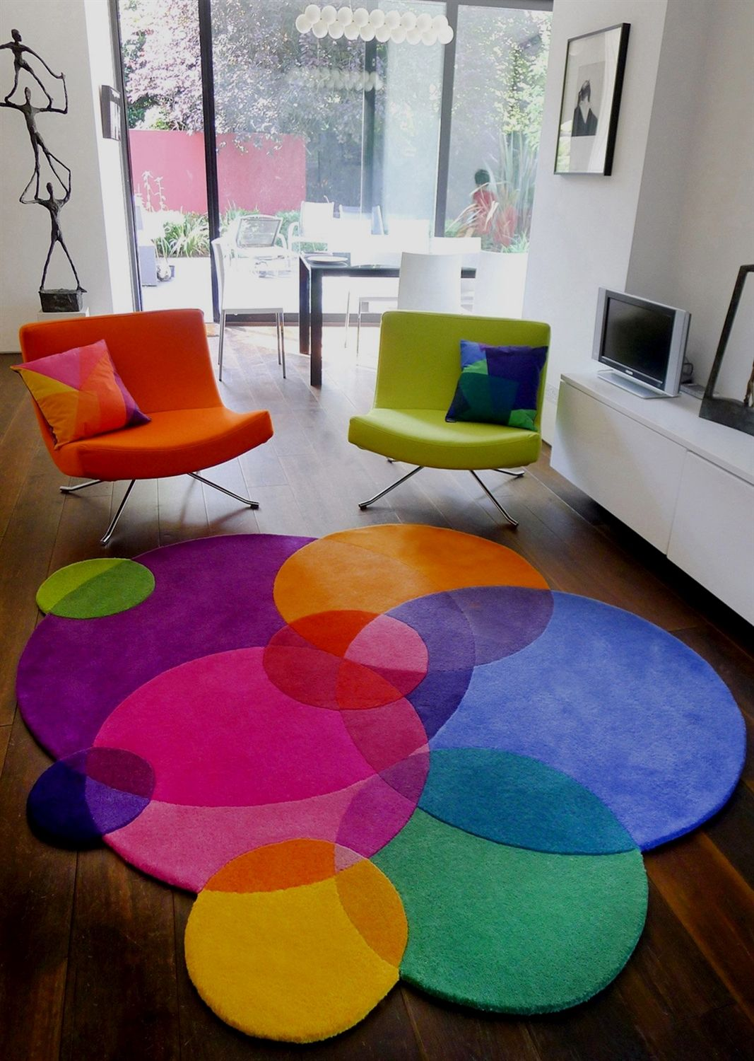 Sonya Winner Multicoloured Area Rug Bubbles One Of A Series Unusual Shaped Rugs