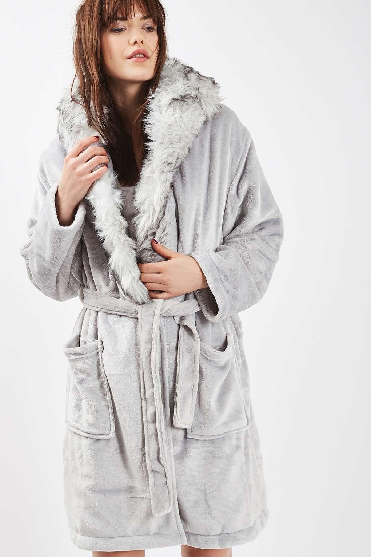 Full Fur Hooded Robe - Nightwear - Clothing - Topshop  a0b008577