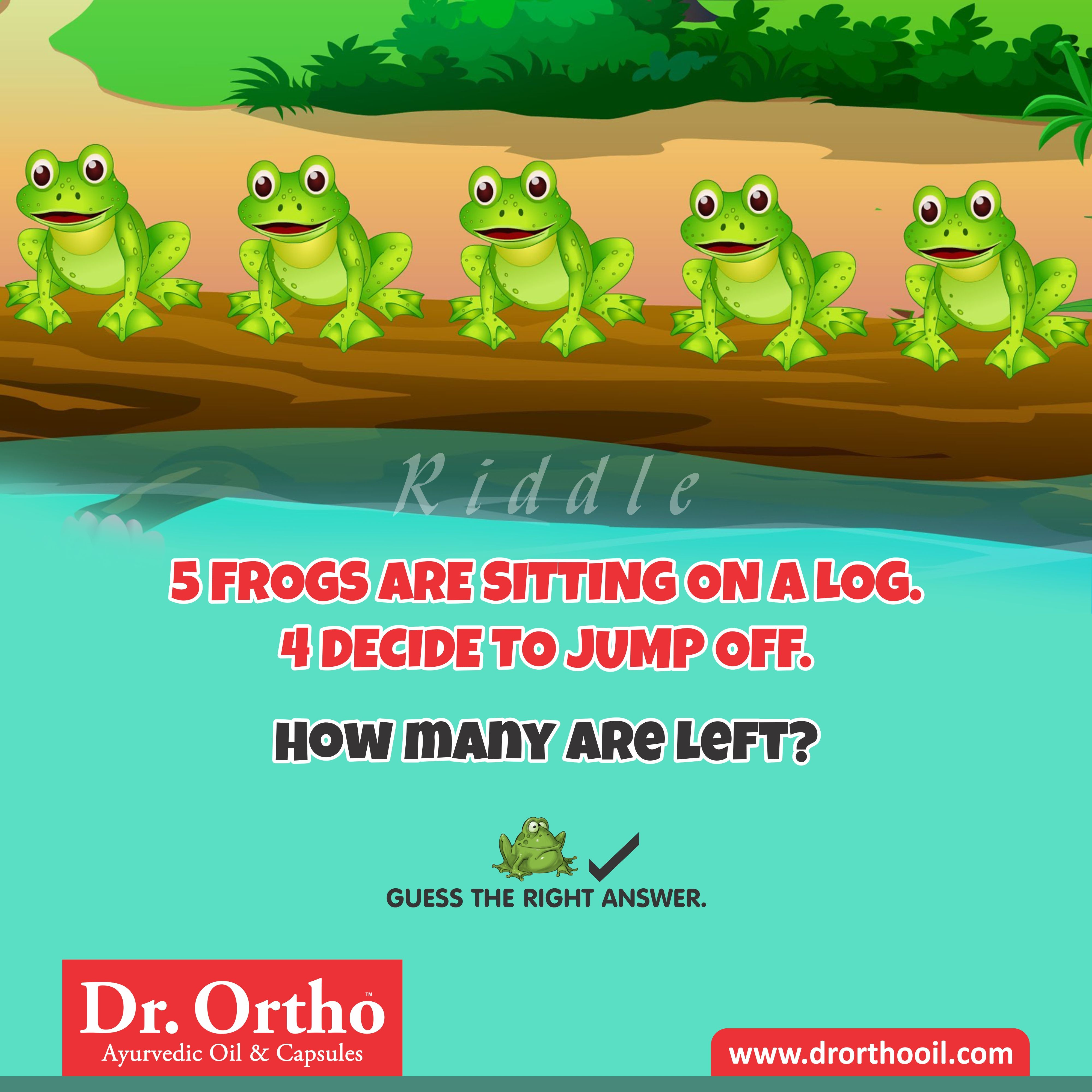 Drortho Riddle How Many are left ? Guess The Right