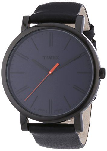 83f32aa24239e Amazon.com  Timex Easy Reader Black Leather Strap Mens Watch T2N794  Timex   Watches