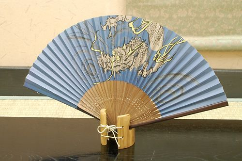 Authentic Japanese Hand Fan - Dragon #1!!!! $25.00  The Japanese hand fans are an important symbol in Japan . They were used by warriors as a form of weapon, actors and dancers for performances, and children as a toy. In Japan fans are given to others as present and serve as trays for holding gifts. You would also find them sometimes used in religious ceremonies and events.