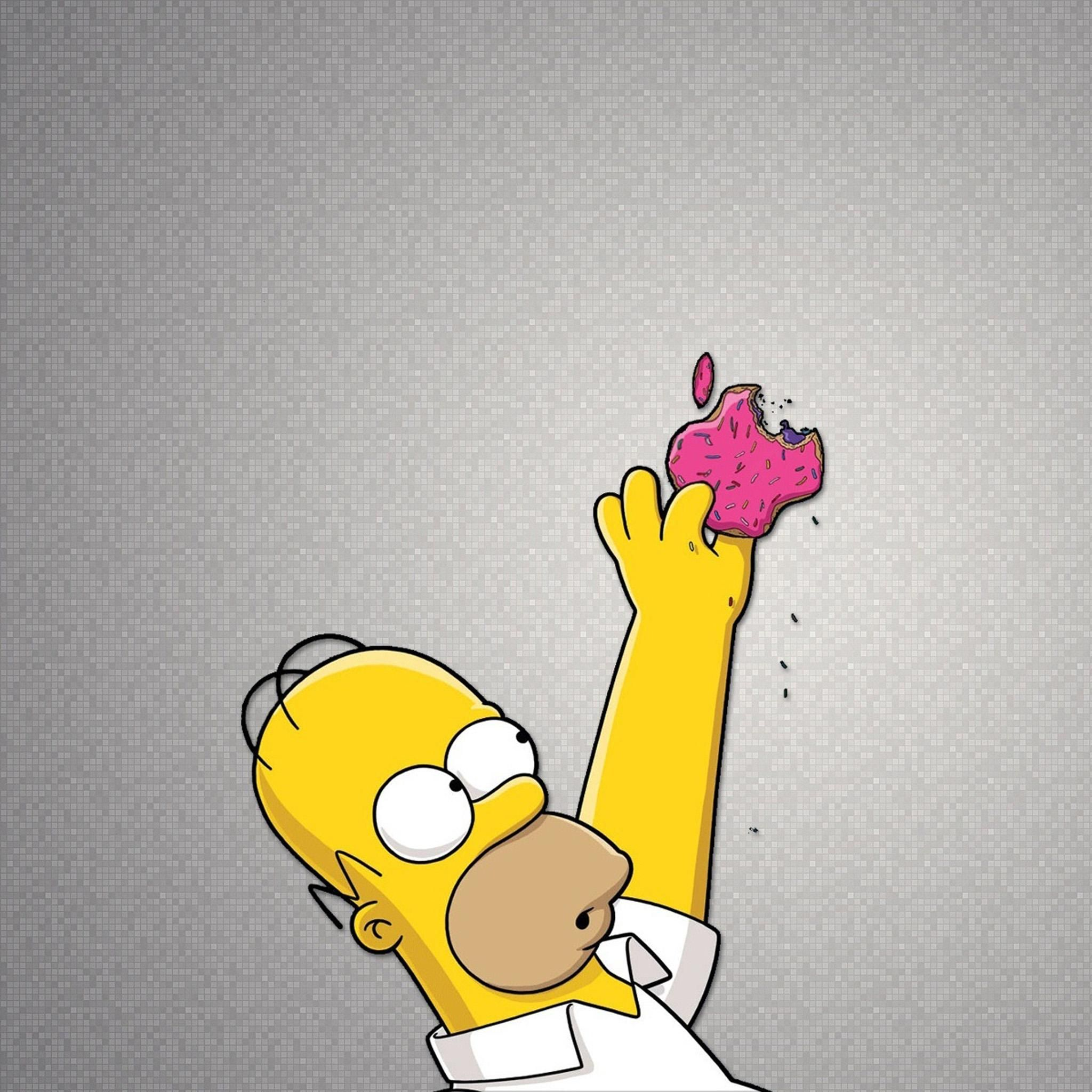 Hommer Simpson eating the Apple donut! Get it for your