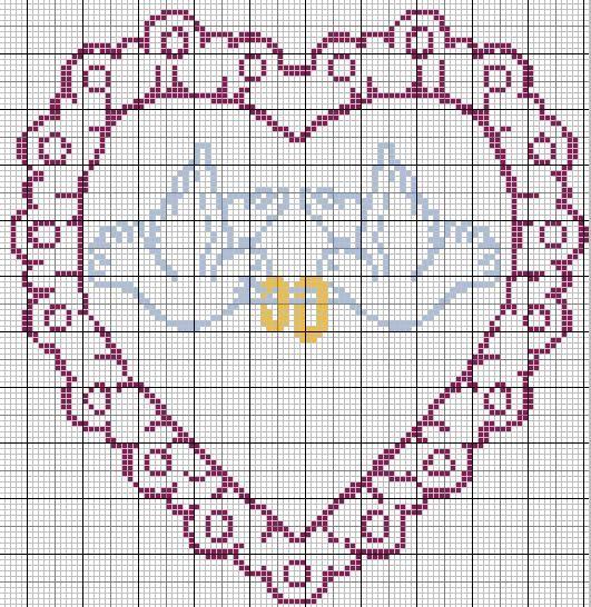 Mod le point de croix mariage mariage fr d et guigui pinterest le temps passe debutant - Grille gratuite point de croix coussin de mariage ...