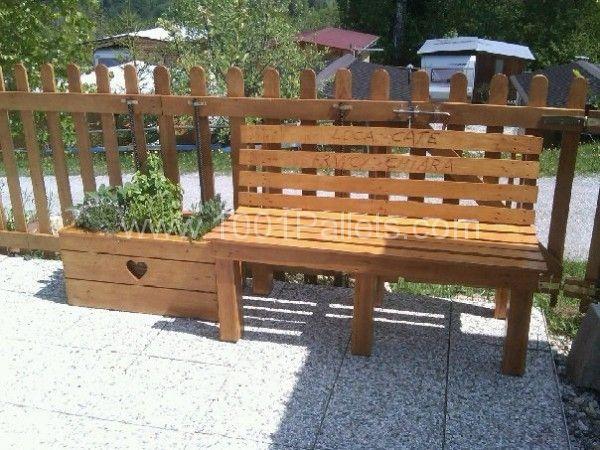 Panchine realizzate con bancali tavoli con bancali for Panchine con bancali