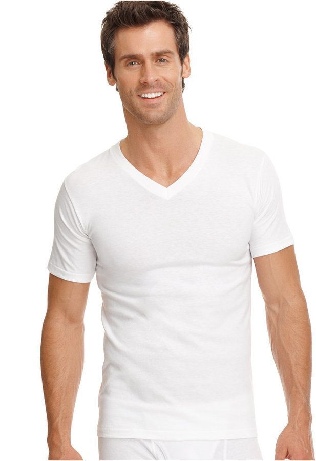 2ecd9b6b8750a Jockey men big   tall classic tagless v-neck Undershirt 2-pack ...