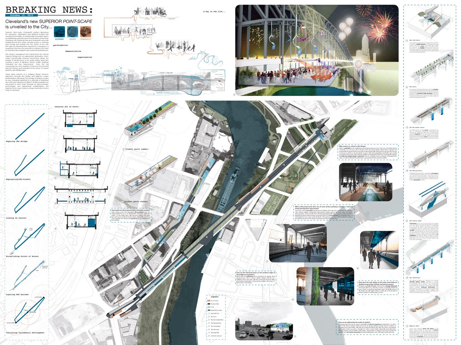 Two Projects Share First Place At 2012 Cleveland Design Competition    Transforming The Bridge Good Ideas