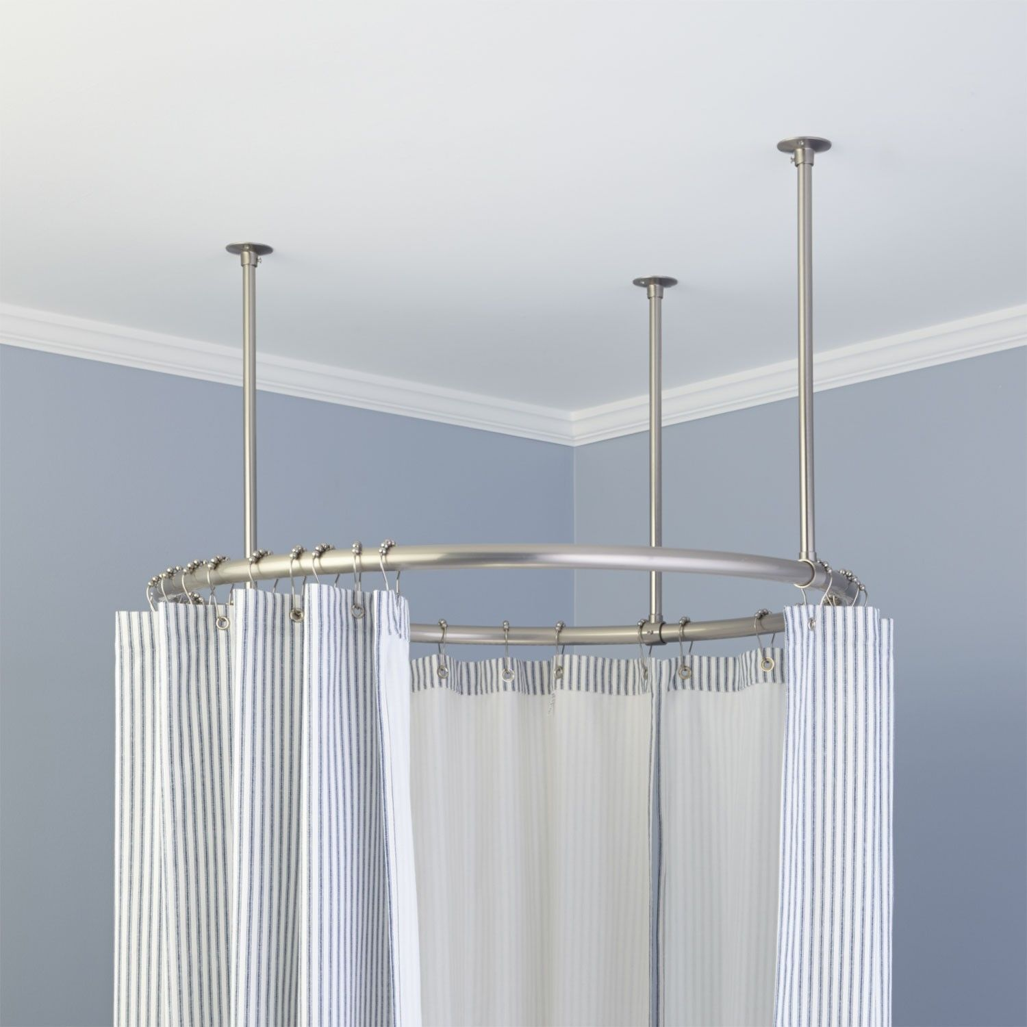 Oval Shower Curtain Rod For Clawfoot Tub Decor 3909 In Sizing 1280