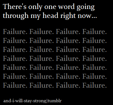 sad failure quotes