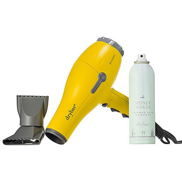 Drybar Buttercup Blow Dryer And Money Maker Flexible Hold Hairspray