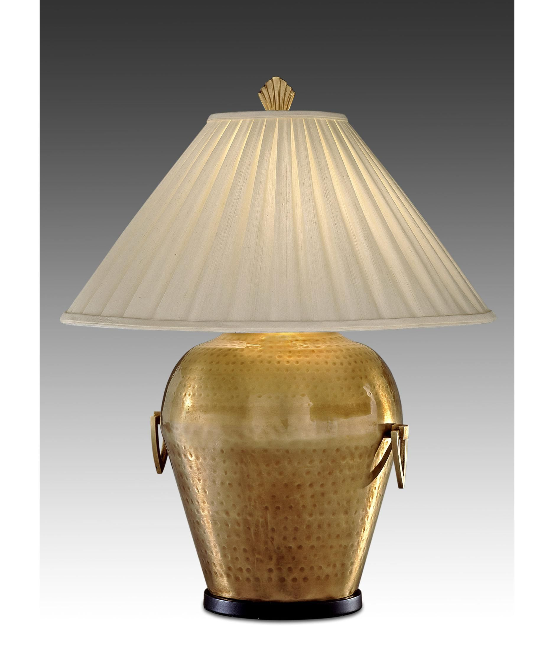 remington lamp table lamp in hammered brass antique capitol lighting