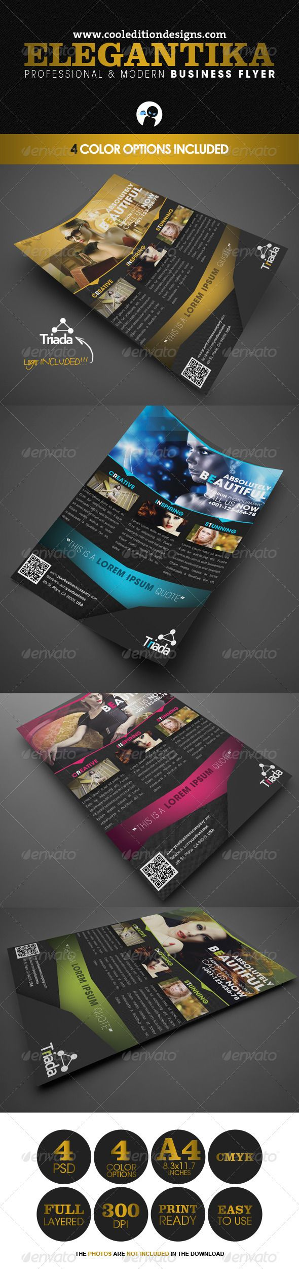 Elegantika  Professional  Modern Business Flyer  Business