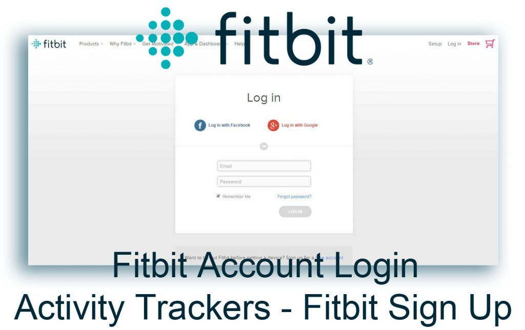 Fitbit Login Activity Trackers Account Login With Images