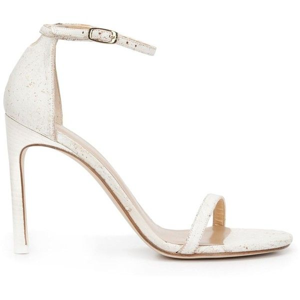 5e9af0f648353d Stuart Weitzman Nudist Song Sandals (£280) ❤ liked on Polyvore featuring  shoes