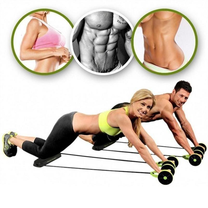AB Roller Wheel Abdominal Workout Muscle Fitness Machine Trainer Gym Exerciser