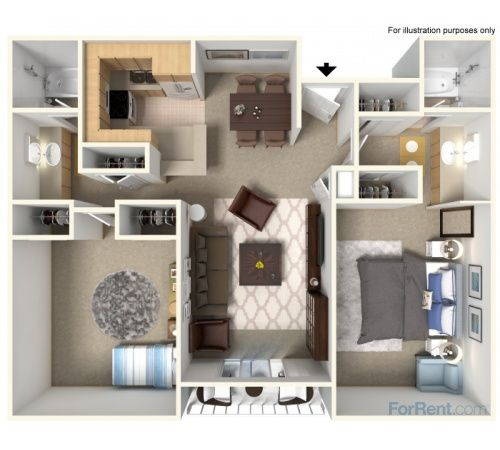 Profile Floor Plan Renting A House One Bedroom Apartment Apartment Floor Plan