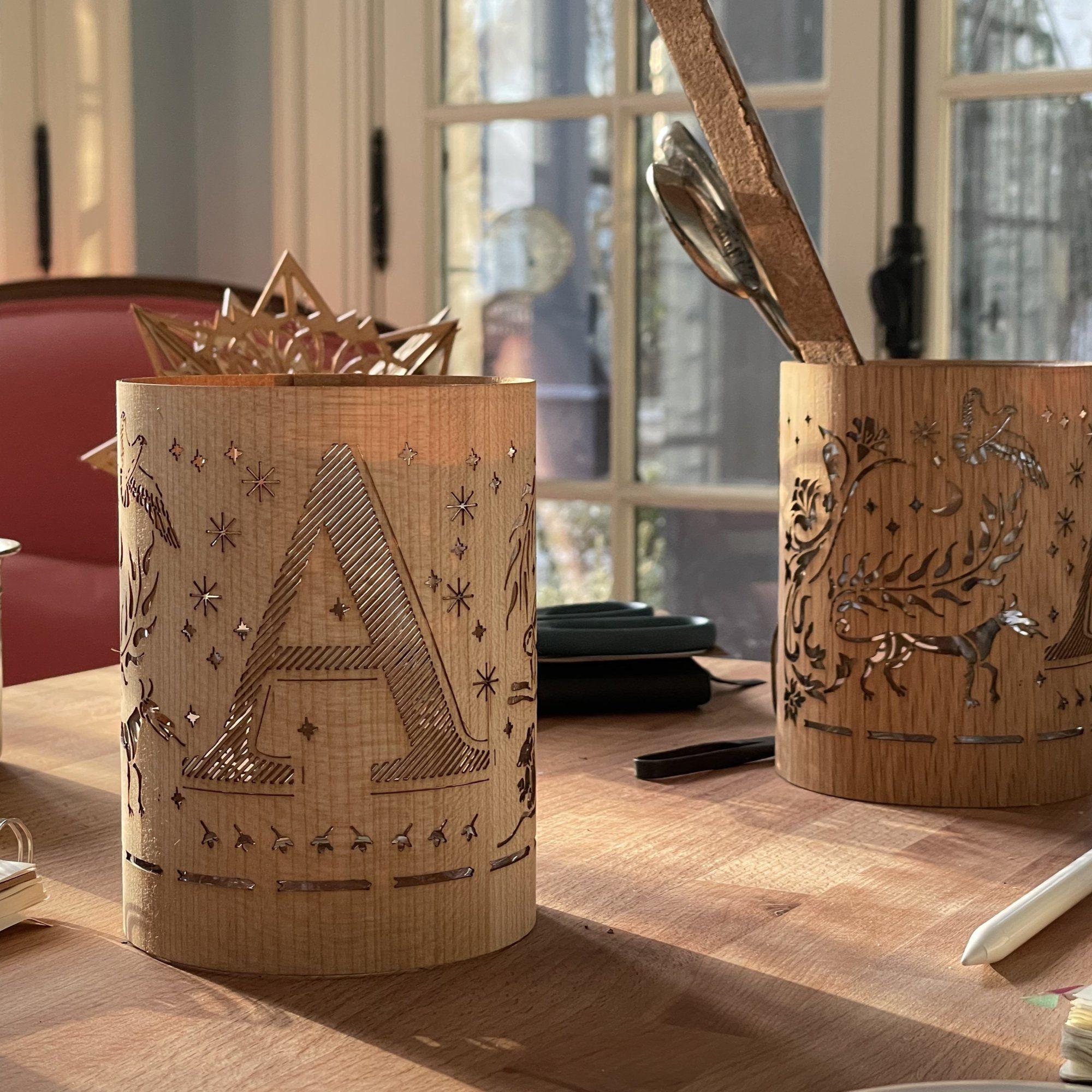 Photo of Letter A Monogram Lantern – A – Maple