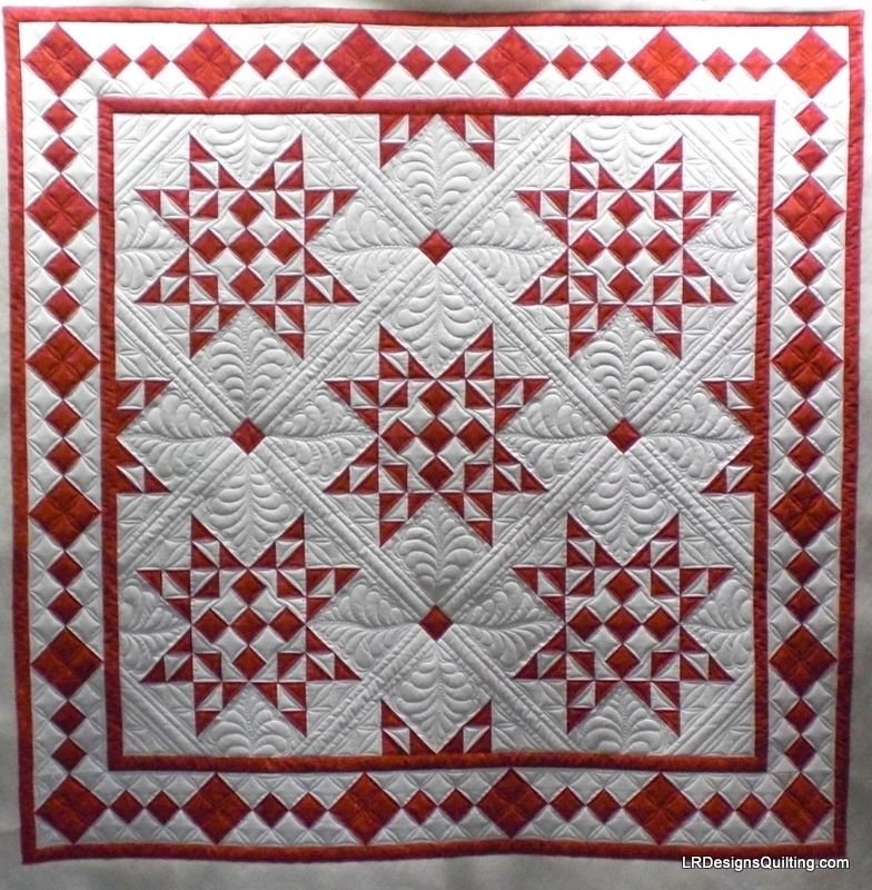Christmas Star Quilt posted by irdesignsquilting from the ... : red star quilt - Adamdwight.com