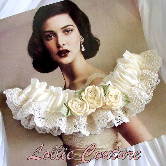 Vintage Lace Garter Set  Wedding garters by lolliecouture on Etsy, $48.00
