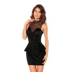 $14.22 Charming Round Neck Flouncing Sleeveless Plus Size Semi ...