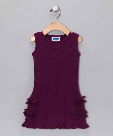 Mikko Kids Purple Sweater Dress - Toddler & Girls | Toddler girls ...