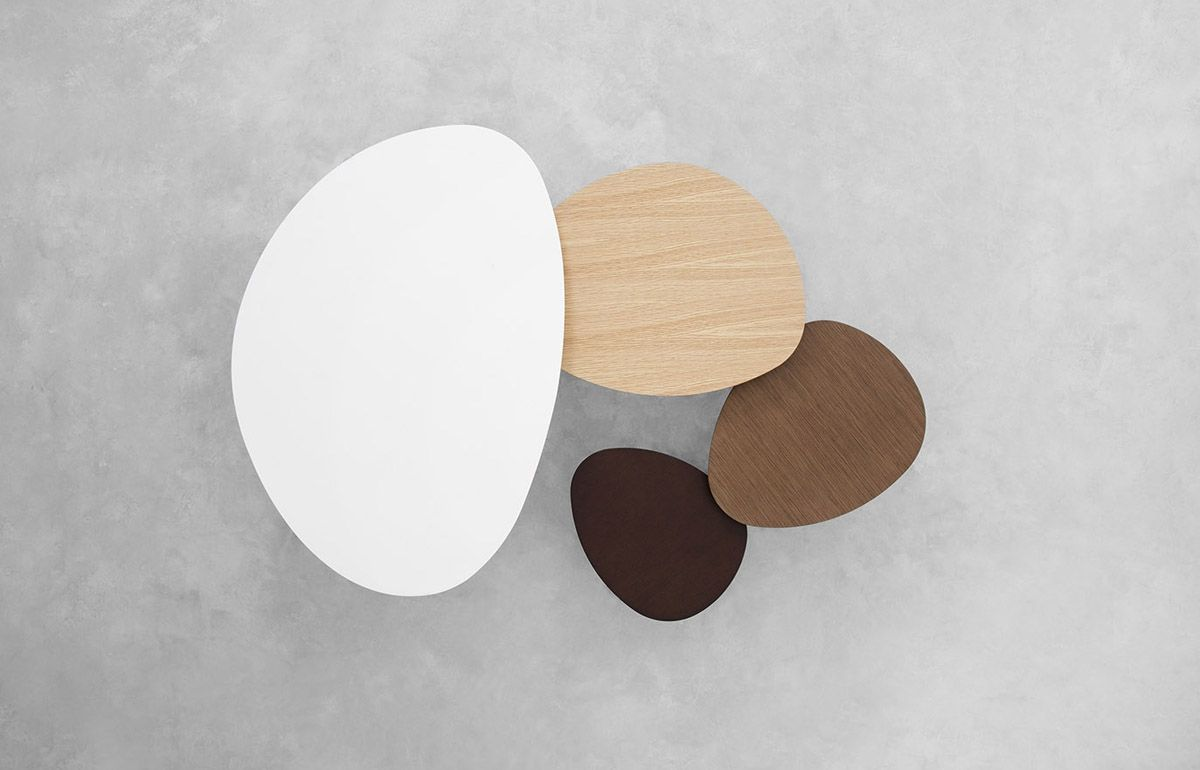 Photo of STUA Eclipse nesting tables with organic shapes