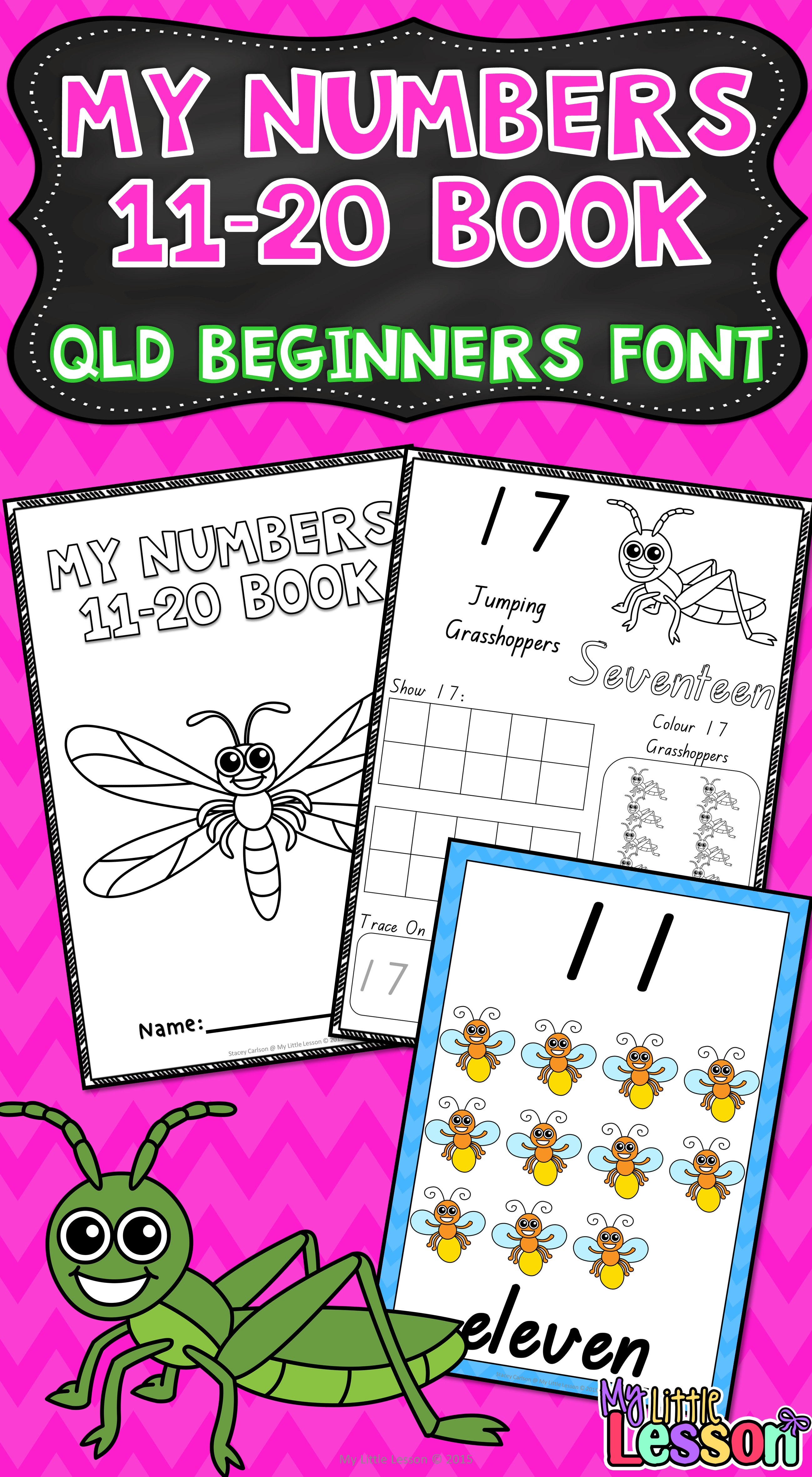 Numbers 11 20 Qld Beginners Font Worksheets And Posters